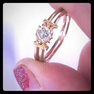 10k Rose Gold Natural Diamond Engagement Ring